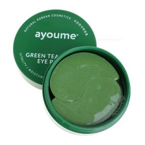 Патчи с экстрактом алоэ и зеленого чая Ayoume Green Tea+Aloe Eye Patch